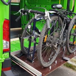 Schwerlastauszüge für die Fahrradschublade